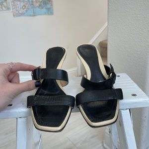 Gucci leather heels straps 6 Italy